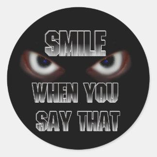 SMILE..... ROUND STICKER