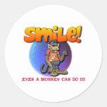 Smile Round Sticker