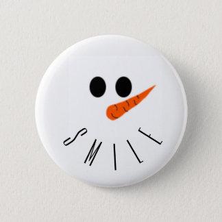 smile! Snowman 6 Cm Round Badge
