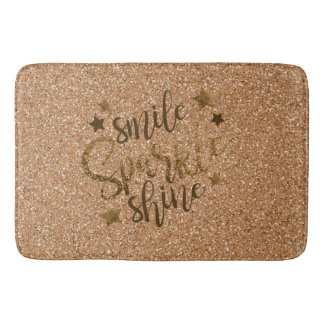 SMILE SPARKLE SHINE GLITTER BATH MAT