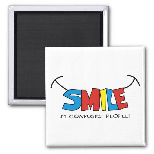 smile square magnet