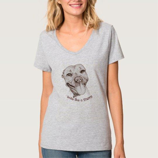 Smile Staffy Tshirts