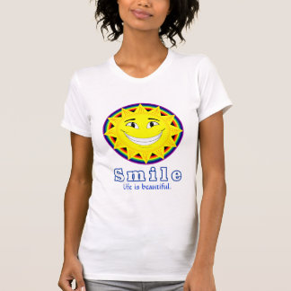 Smile T-shirts (2), Blue text