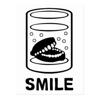 Smile Teeth Postcard