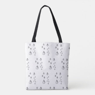 Smile through the rain tote bag