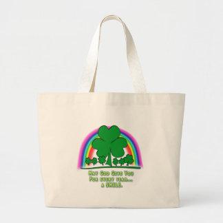 SMILE to REPLACE TEARS - IRISH BLESSING Jumbo Tote Bag