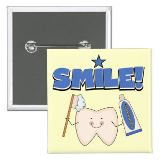SMILE - Tooth T-shirts and Gifts Pinback Buttons