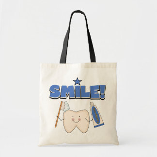 SMILE - Tooth T-shirts and Gifts Budget Tote Bag