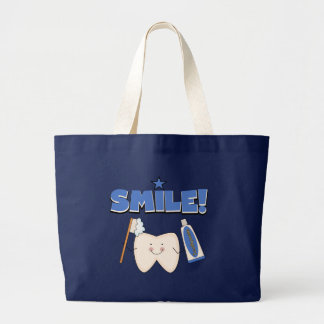 SMILE - Tooth T-shirts and Gifts Large Tote Bag