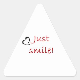 Smile Triangle Sticker
