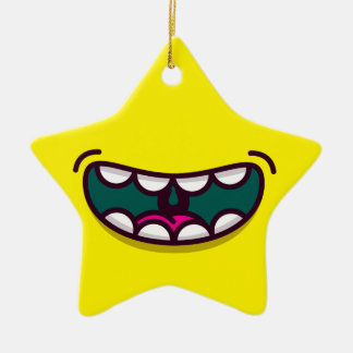 Smile up ceramic star decoration