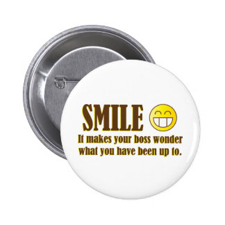 Smile :) When in the Office... 6 Cm Round Badge