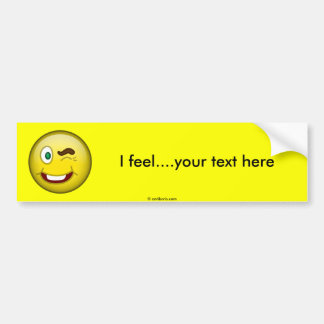 Smile Wink Bumper Sticker