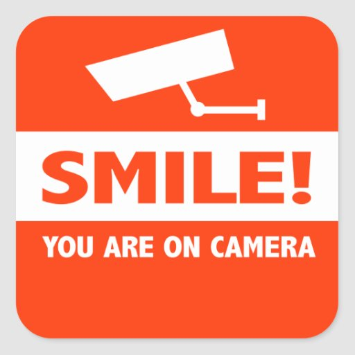 Smile You Are On Camera Stickers
