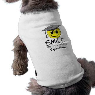 Smile You ve Graduated Dog Tee Shirt