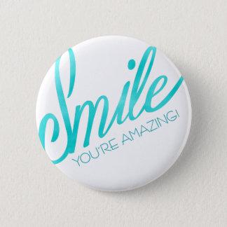 Smile You're Amazing 6 Cm Round Badge