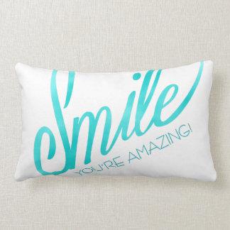 Smile You're Amazing Lumbar Cushion