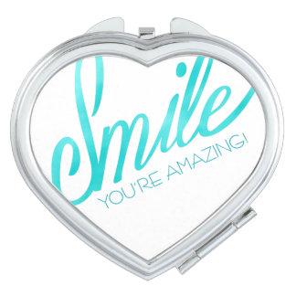 Smile You're Amazing Travel Mirrors