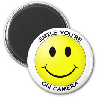 Smile You're on Camera Round Magnet