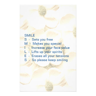 Smiles are Contagious Stationery Paper