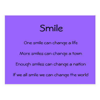 Smiles Change the World Postcard