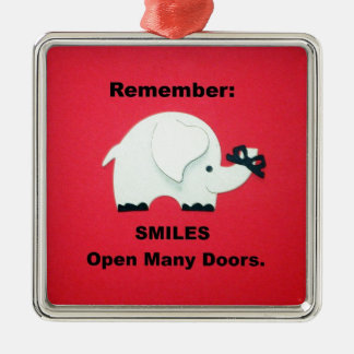 Smiles Open Many Doors! Christmas Ornament