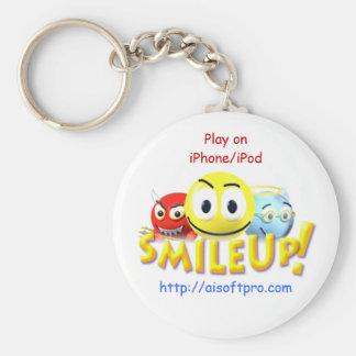 SmileUp! Basic Round Button Key Ring