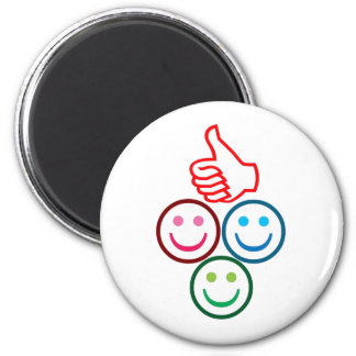 SMILEY and Thumbs UP : HAPPY FACES Fridge Magnets