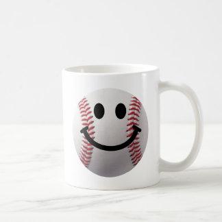smiley baseball coffee mug