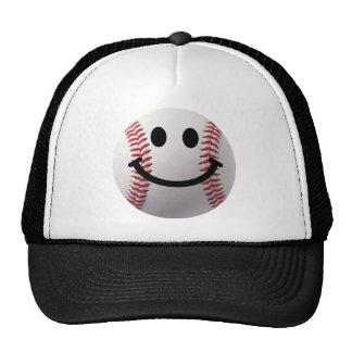 smiley baseball trucker hat