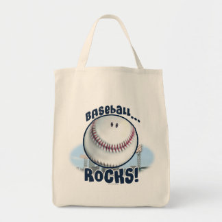 Smiley Baseball Rocks by Mudge Studios Tote Bag