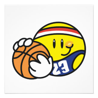 Smiley Basketball Tshirts and Gifts Custom Invites
