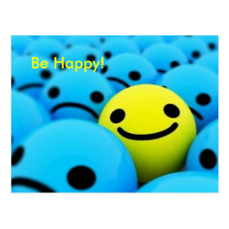 smiley Be Happy Post Cards