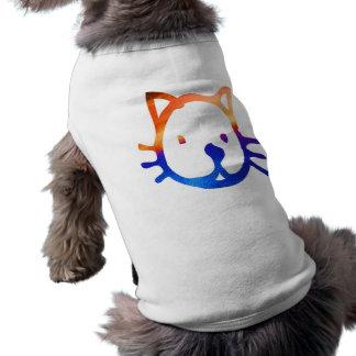 Smiley Cat Sleeveless Dog Shirt