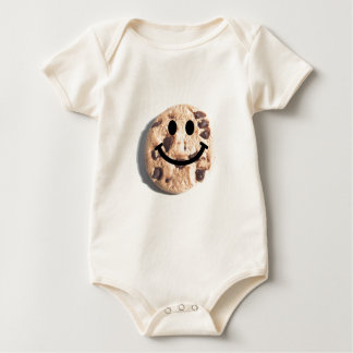Smiley Chocolate Chip Cookie Baby Bodysuit
