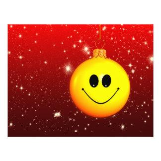 Smiley Christmas bauble 21.5 Cm X 28 Cm Flyer