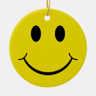 Smiley Christmas Ornament