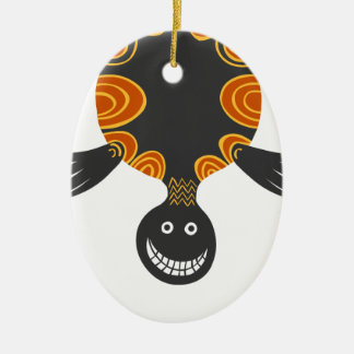 Smiley Cool colourful tortoise full of cheeky fun Christmas Ornament