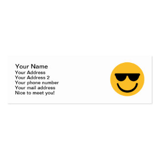 Smiley cool sunglasses business card