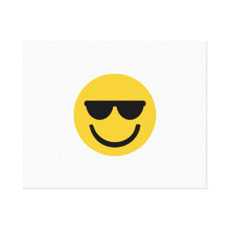 Smiley cool sunglasses stretched canvas print