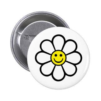 Smiley Daisy 6 Cm Round Badge