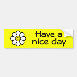 Smiley Daisy Bumper Sticker