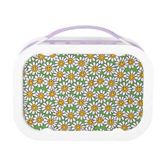 Smiley Daisy Flowers Pattern Lunch Box