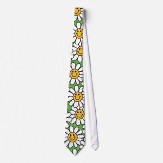 Smiley Daisy Flowers Pattern Tie