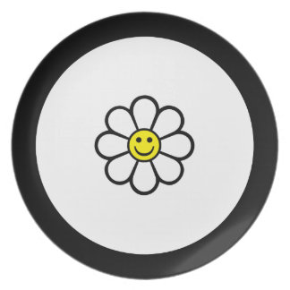 Smiley Daisy Plate
