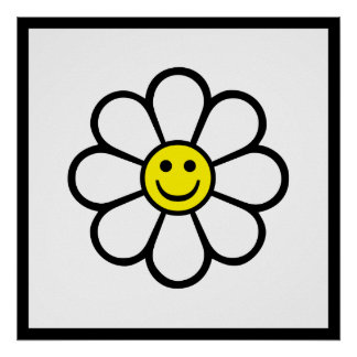 Smiley Daisy Poster