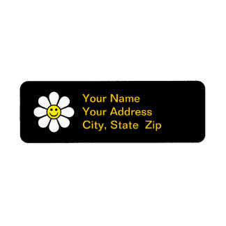 Smiley Daisy Return Address Label