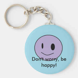 smiley, Don't worry, be happy! Key Chains