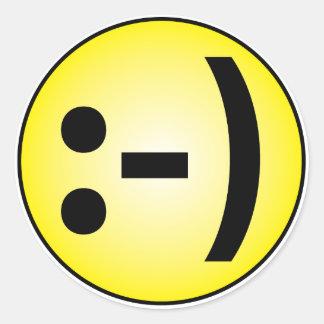 Smiley Emoticon Round Sticker