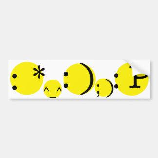 Smiley emotion bumper sticker